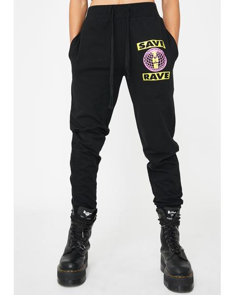 Save The Rave Sweatpants