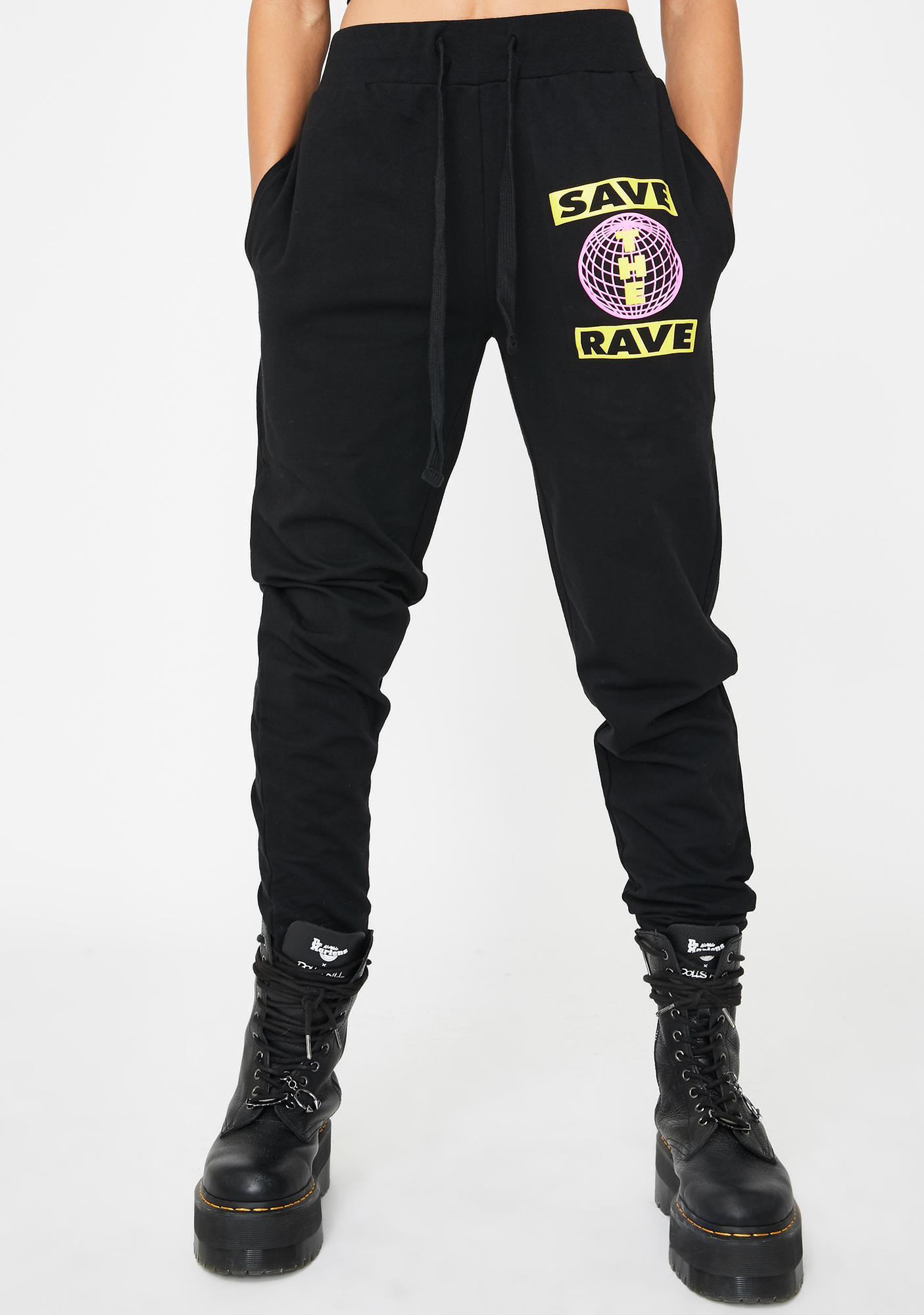 NEW FTR LDN Save The Rave Sweatpants