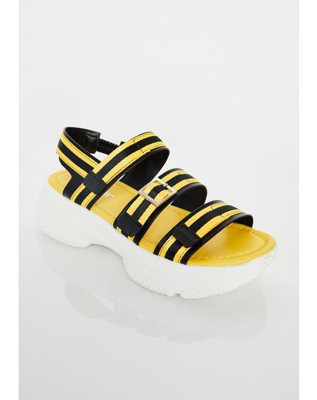 Beach Bum Platform Sandals