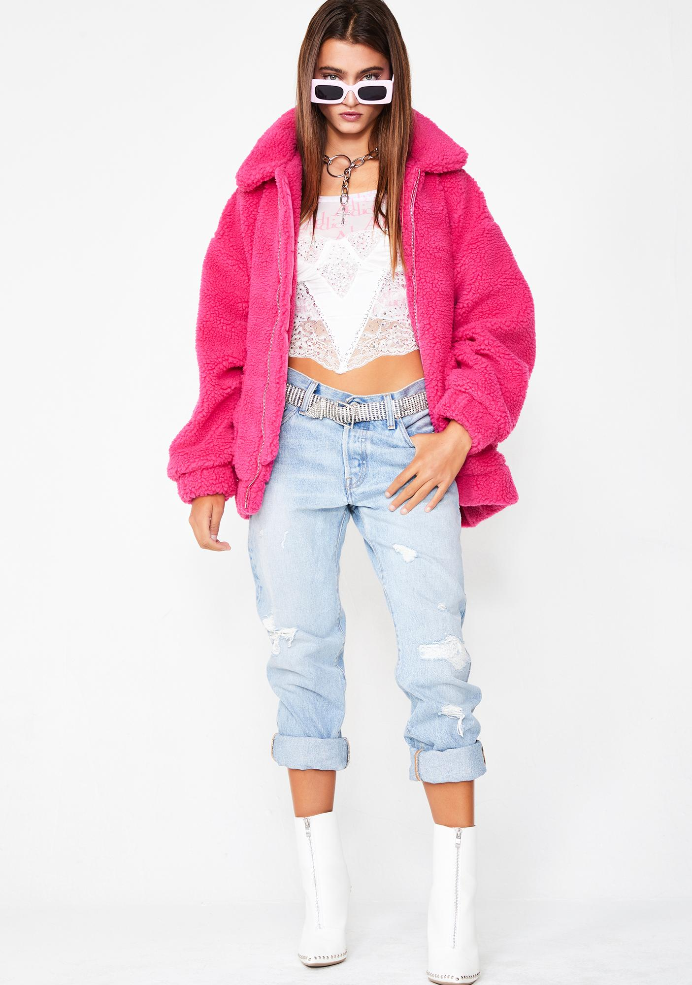 I AM GIA Flirty Rose Pixie Coat