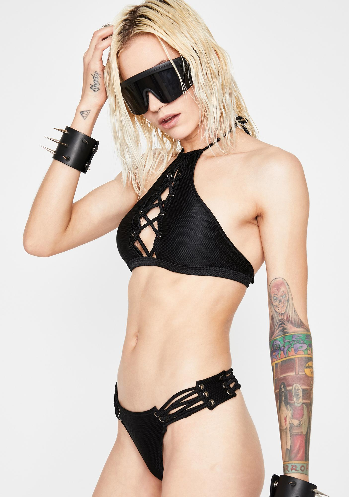 Yer Loss Babe Lace Up Set