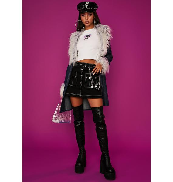 Dolls Kill x Bratz Model Status Mini Skirt