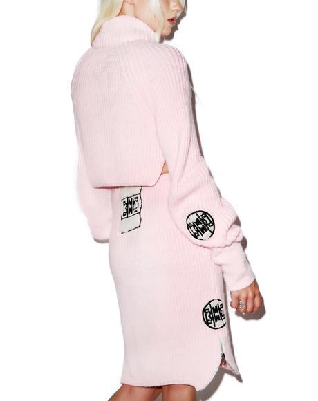 Fluffy Crop Sweater