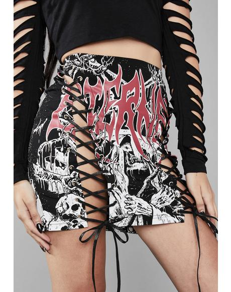 4008a843fa8 Eternal Damnation Graphic Skirt ...