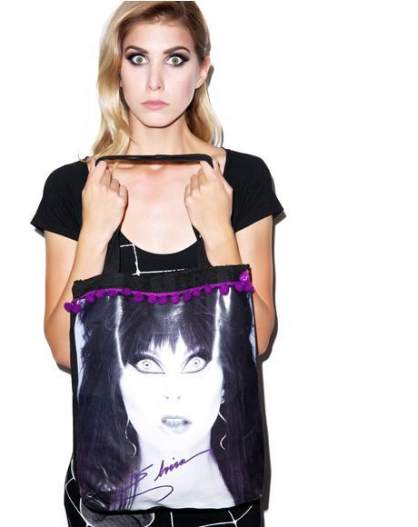 Elvira Glamour Eyes Tote Bag