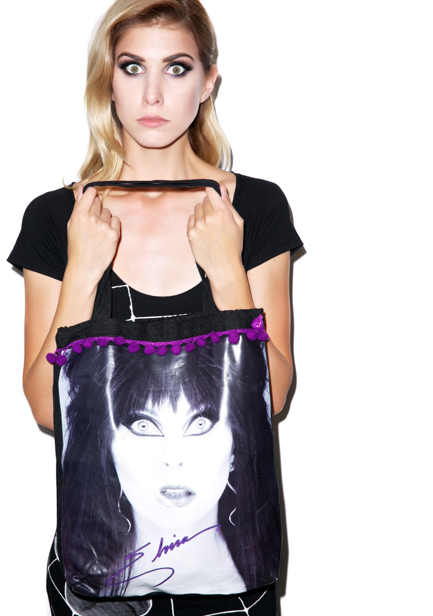 Kreepsville 666 Elvira Glamour Eyes Tote Bag