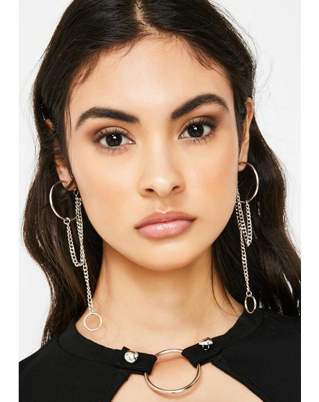 Start The Fight Hoop Earrings