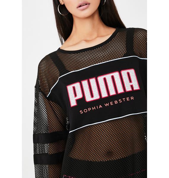 PUMA X Sophia Webster Mesh Top