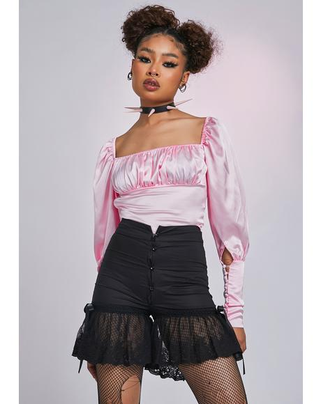The Volare Lace High Waist Shorts