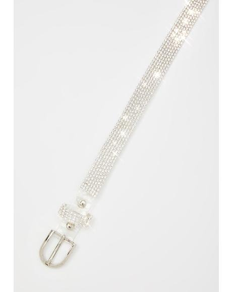 Clearly Cute Rhinestone Belt