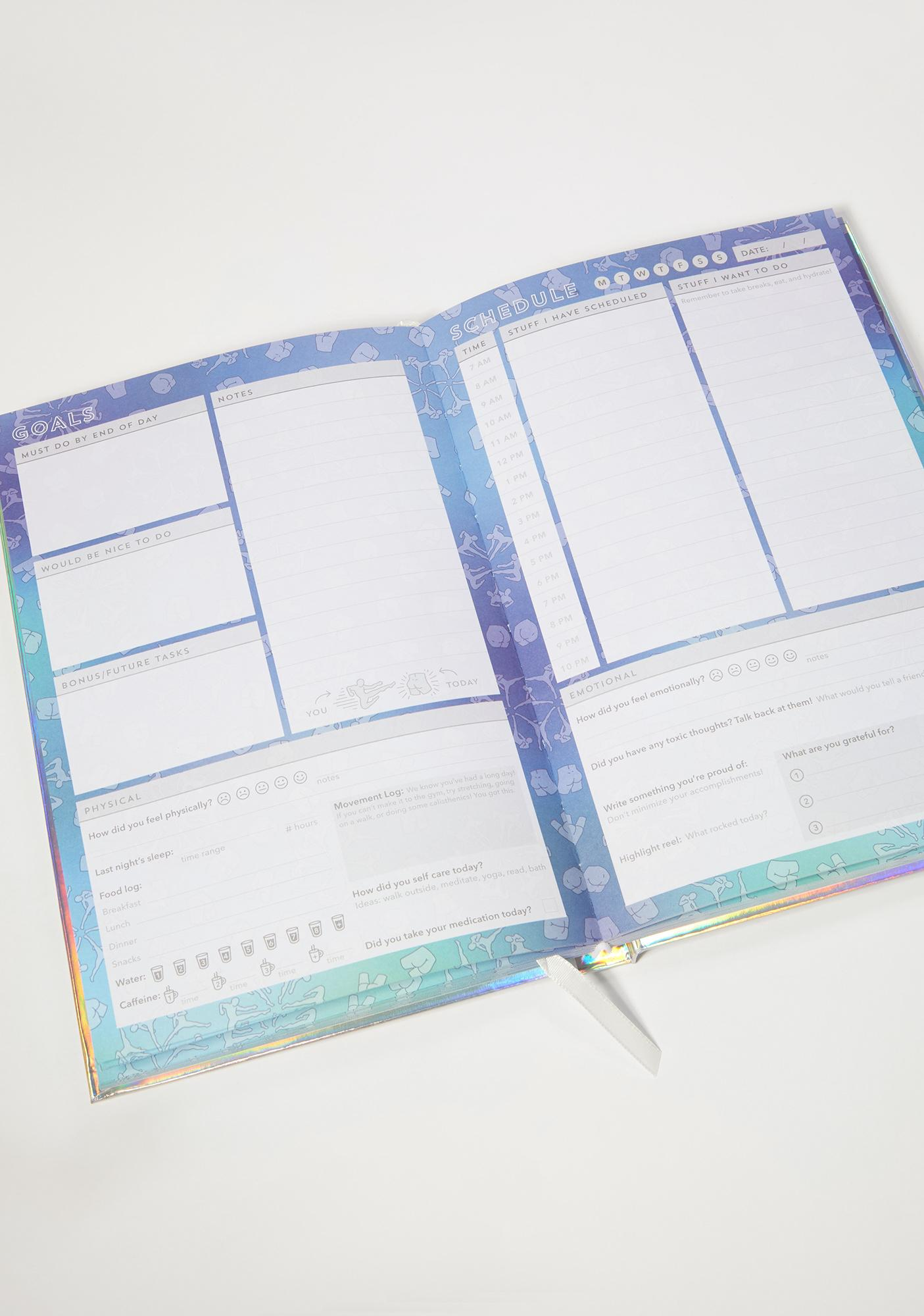 Dash of Pep Kick Today In The Butt Holographic Planner