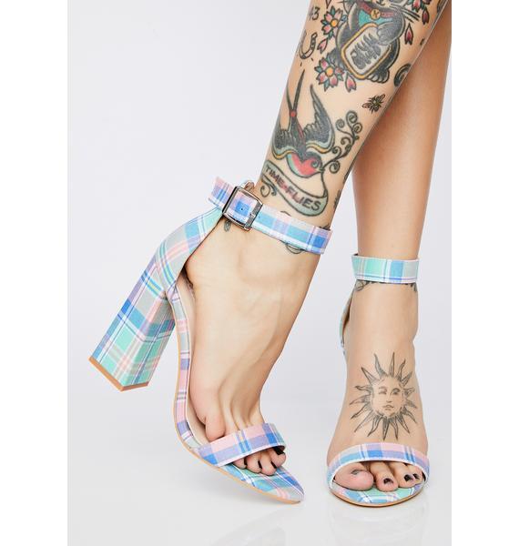 Mojito Just Flawless Plaid Heels