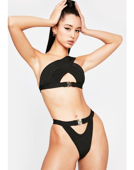 Night Never Give Up Bikini Set