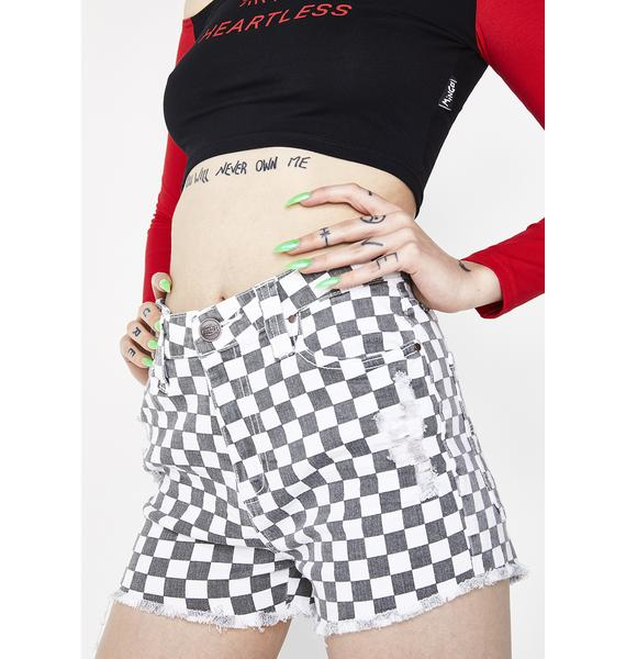Dickies Girl High Rise Checkered Shorts