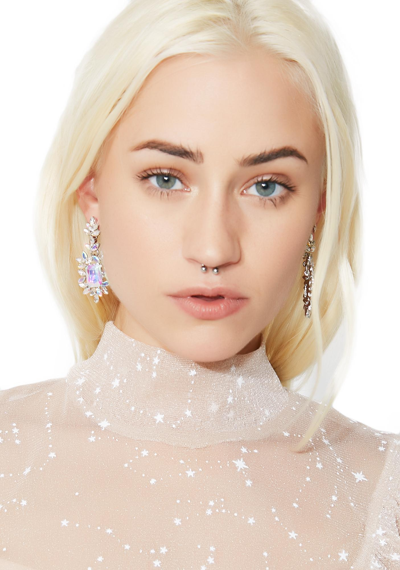 High Society Rhinestone Earrings