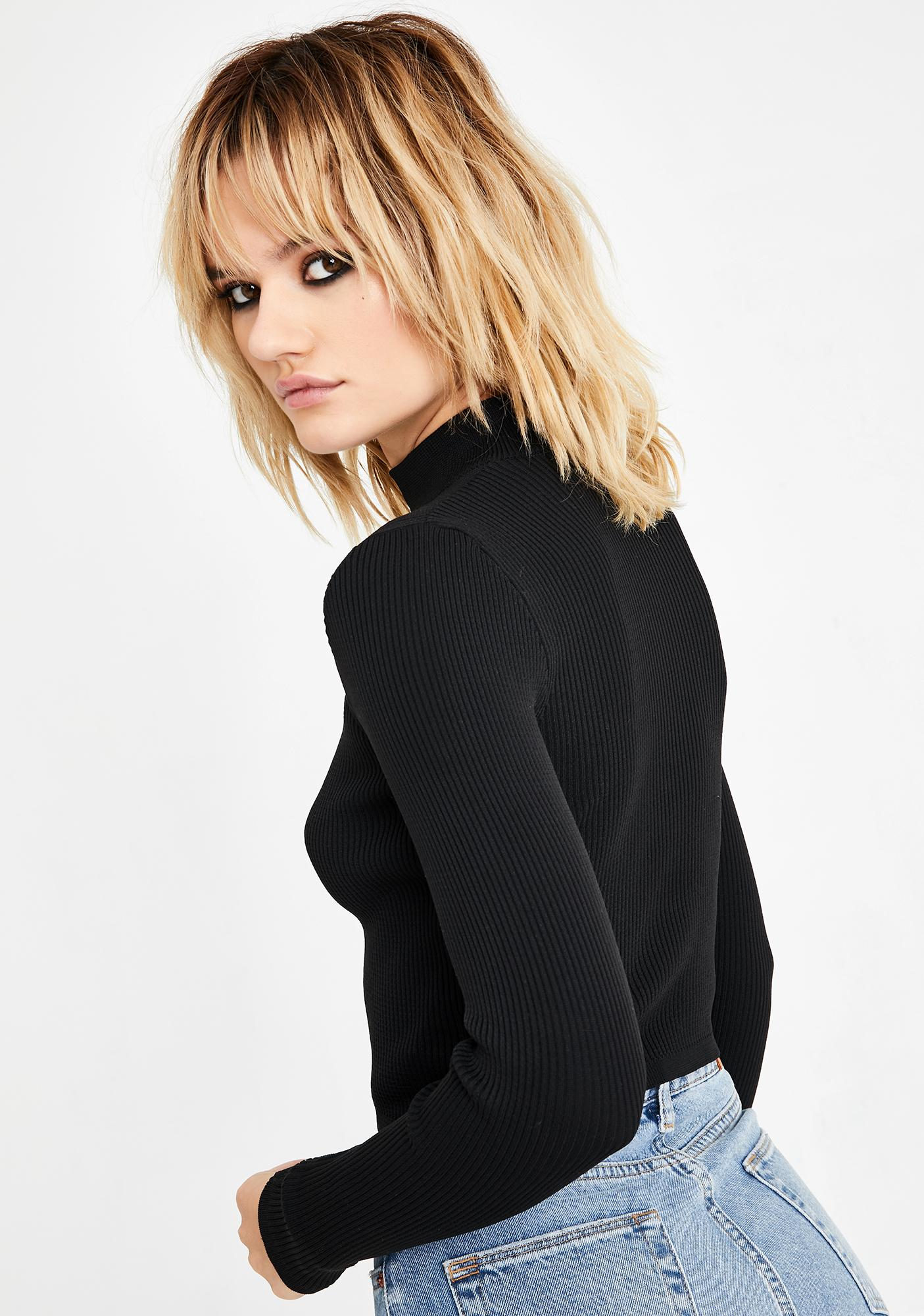 BDG Cutout Cropped Sweater