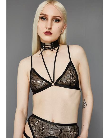 Candles Lit Web Mesh Bralette