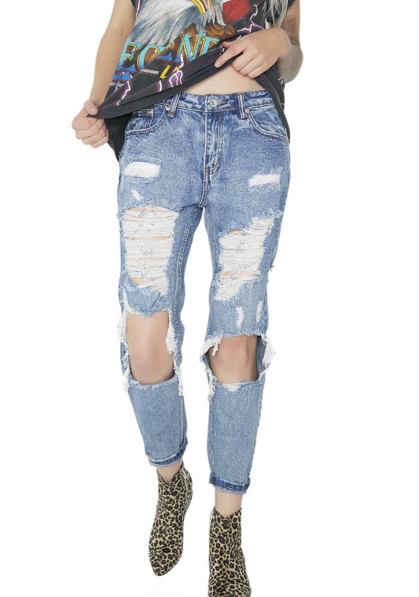 Above N� Beyond Distressed Jeans