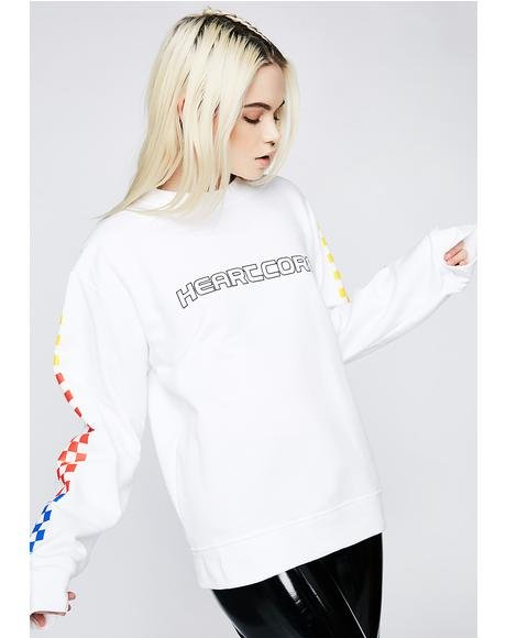 Heartcore Color Checkered Sweatshirt