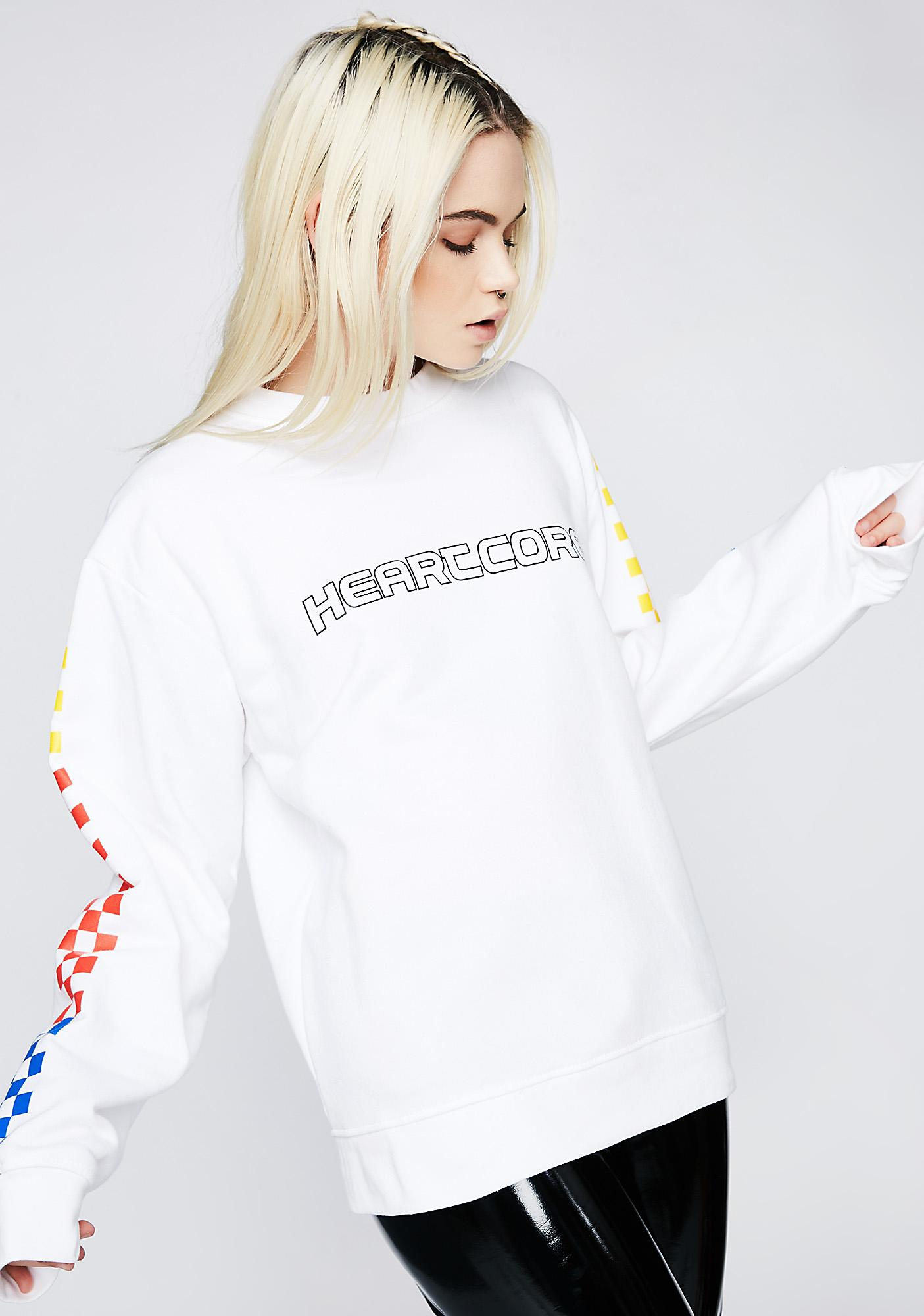 Local Heroes Heartcore Color Checkered Sweatshirt