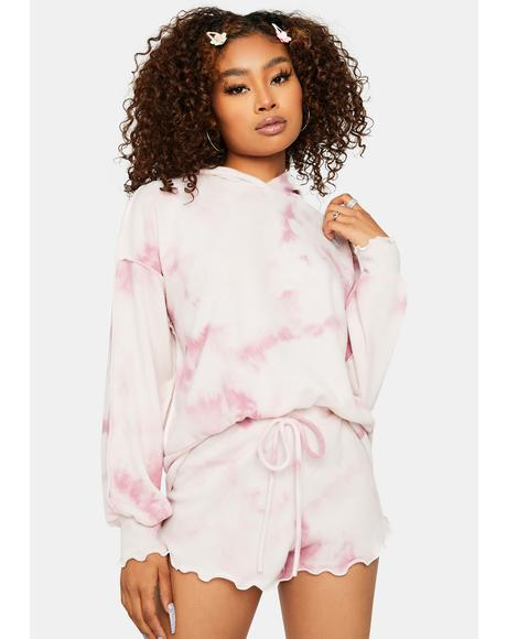 Honey Pie Tie Dye Oversized Sweatshirt Set