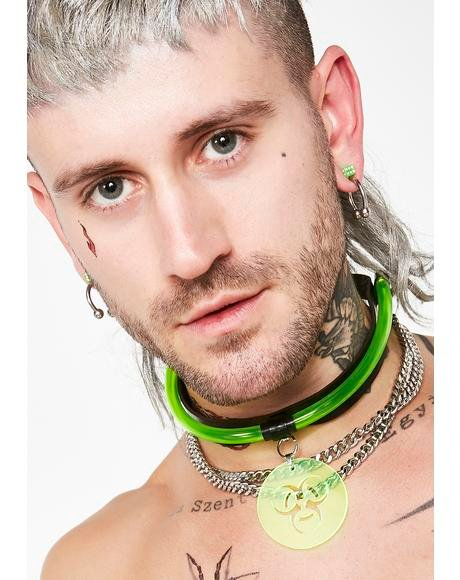 Toxicology UV Reactive Choker