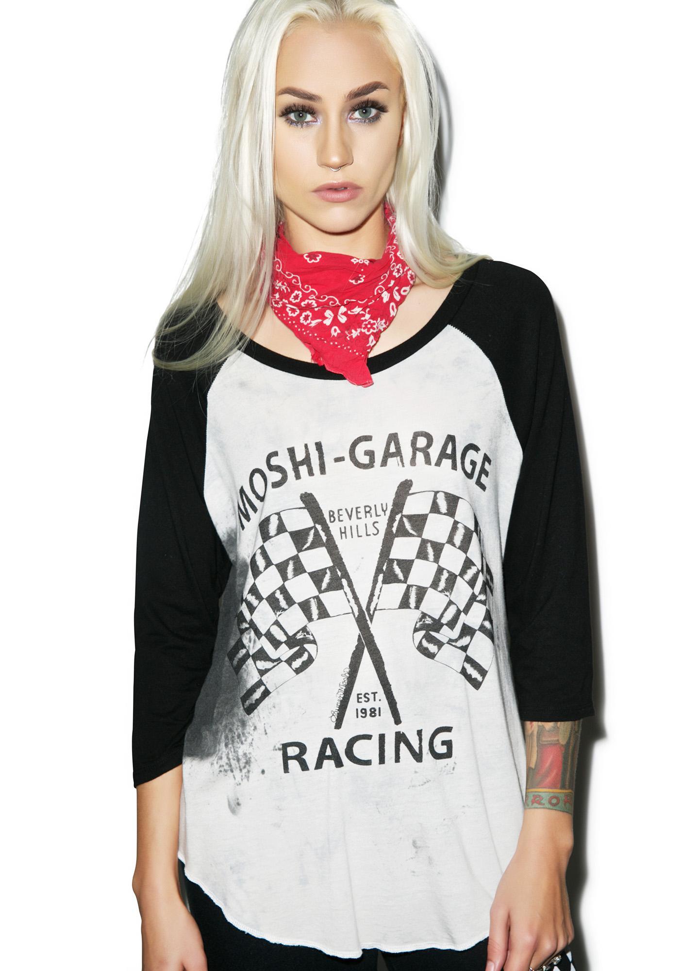 Lauren Moshi Moshi Racing Boyfriend Raglan