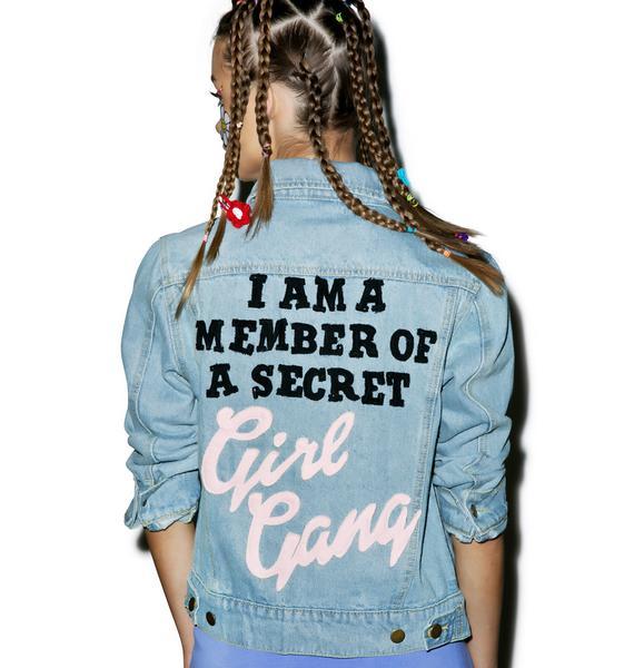 High Heels Suicide Girl Gang Denim Jacket