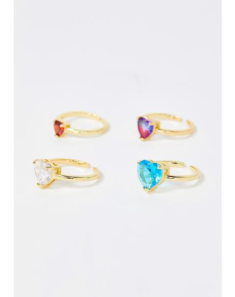 Brightest Lights Jewel Ring Set