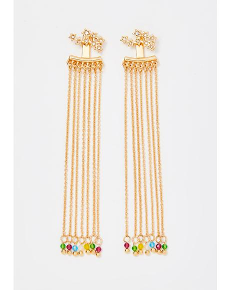 Dripping In Dreams Beaded Earrings
