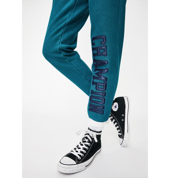 Champion Jeweled Jade Vintage Wash Reverse Weave Joggers