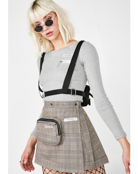 b1883696423 Plaid Pencil Case Pleat Skirt Plaid Pencil Case Pleat Skirt ...