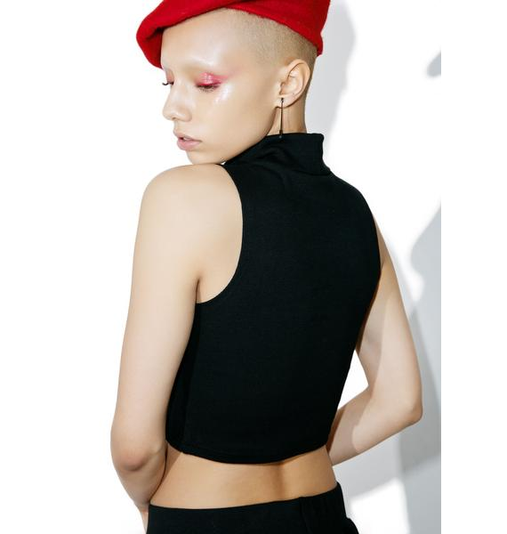 Married to the Mob Please Slvls Crop Tank