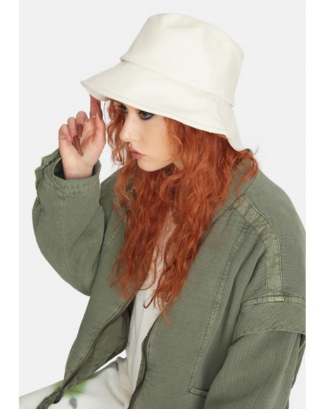 Vanilla No Complaints Vegan Leather Bucket Hat