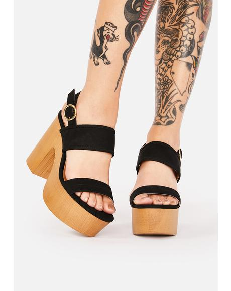 Summer Fling Wooden Heels