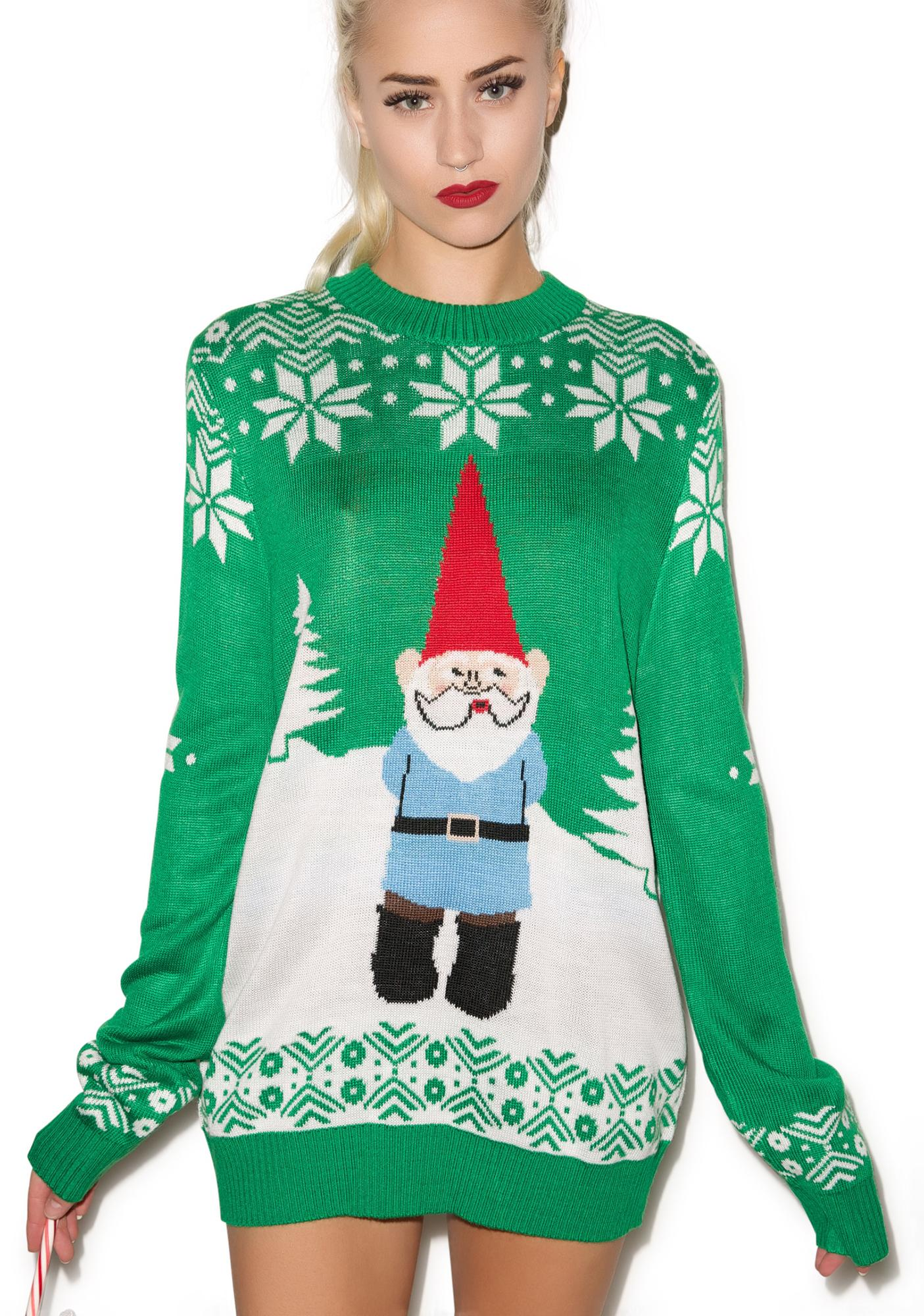 Tipsy Elves Suspicious Gnome Sweater