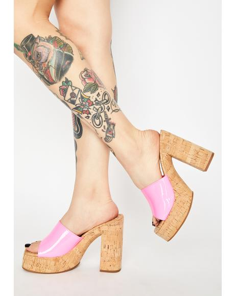 Barbie Cashew Block Heels