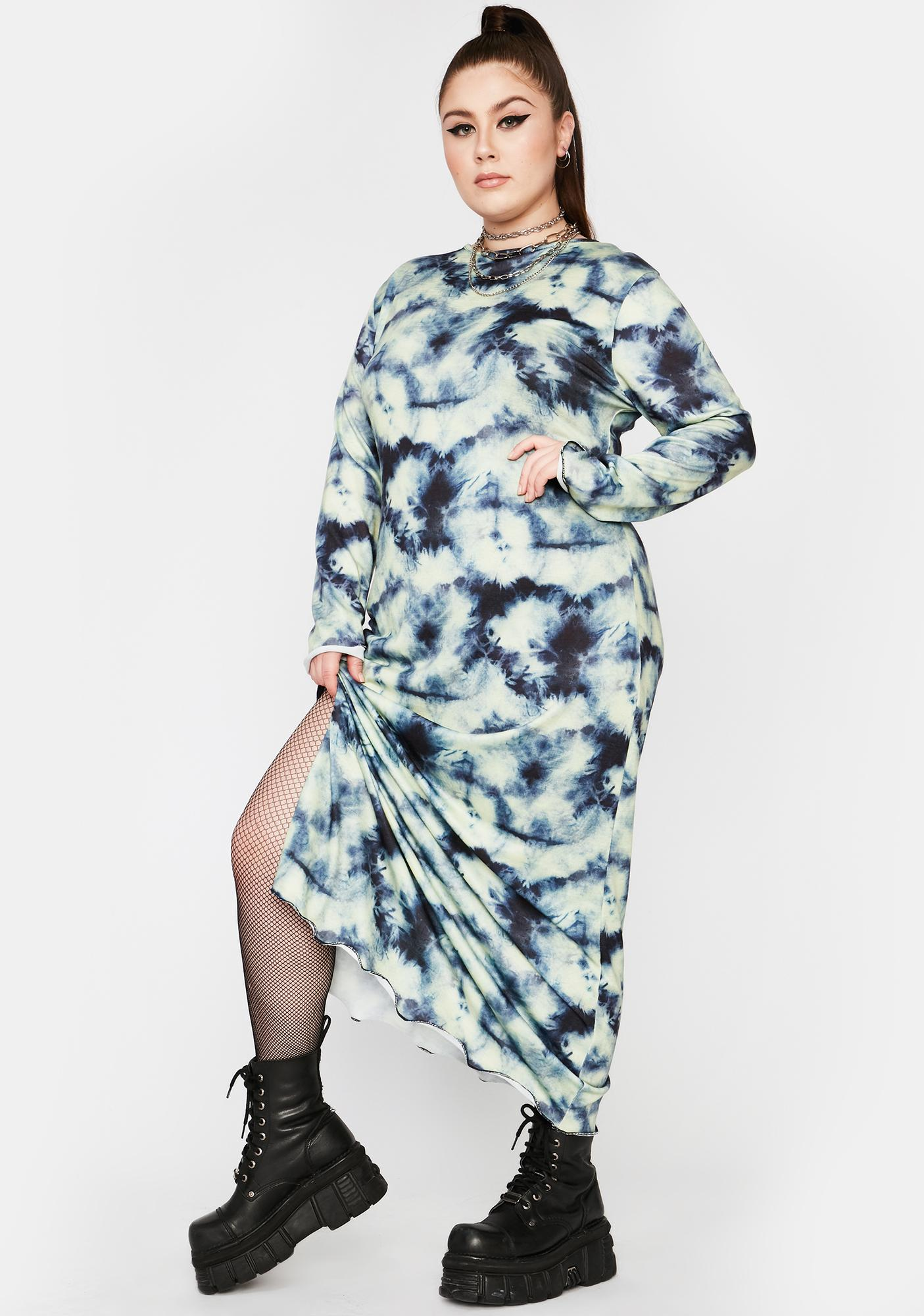 NEW GIRL ORDER Curve Tie Dye Maxi Dress