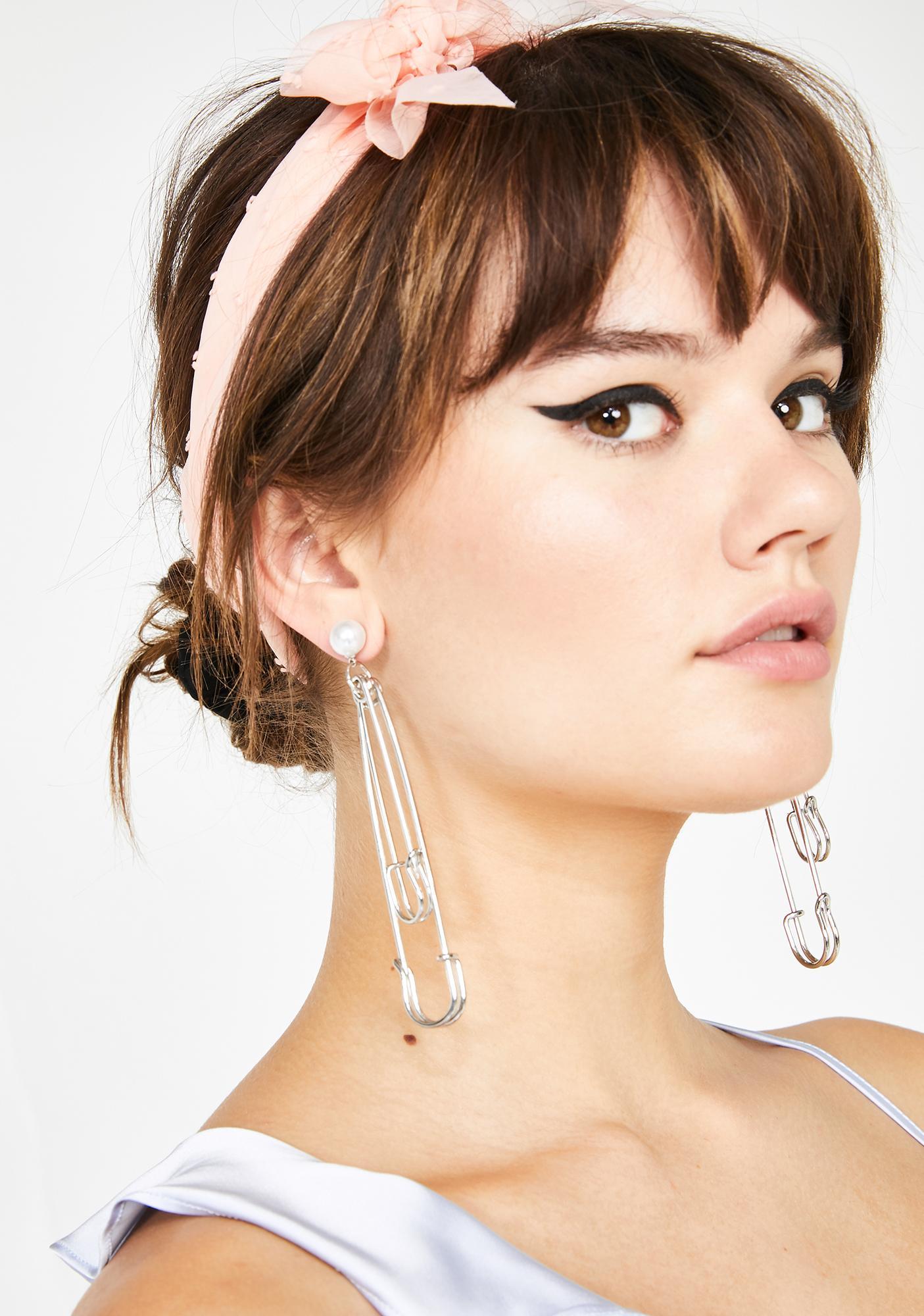 Pretty Punk Safety Pin Earrings