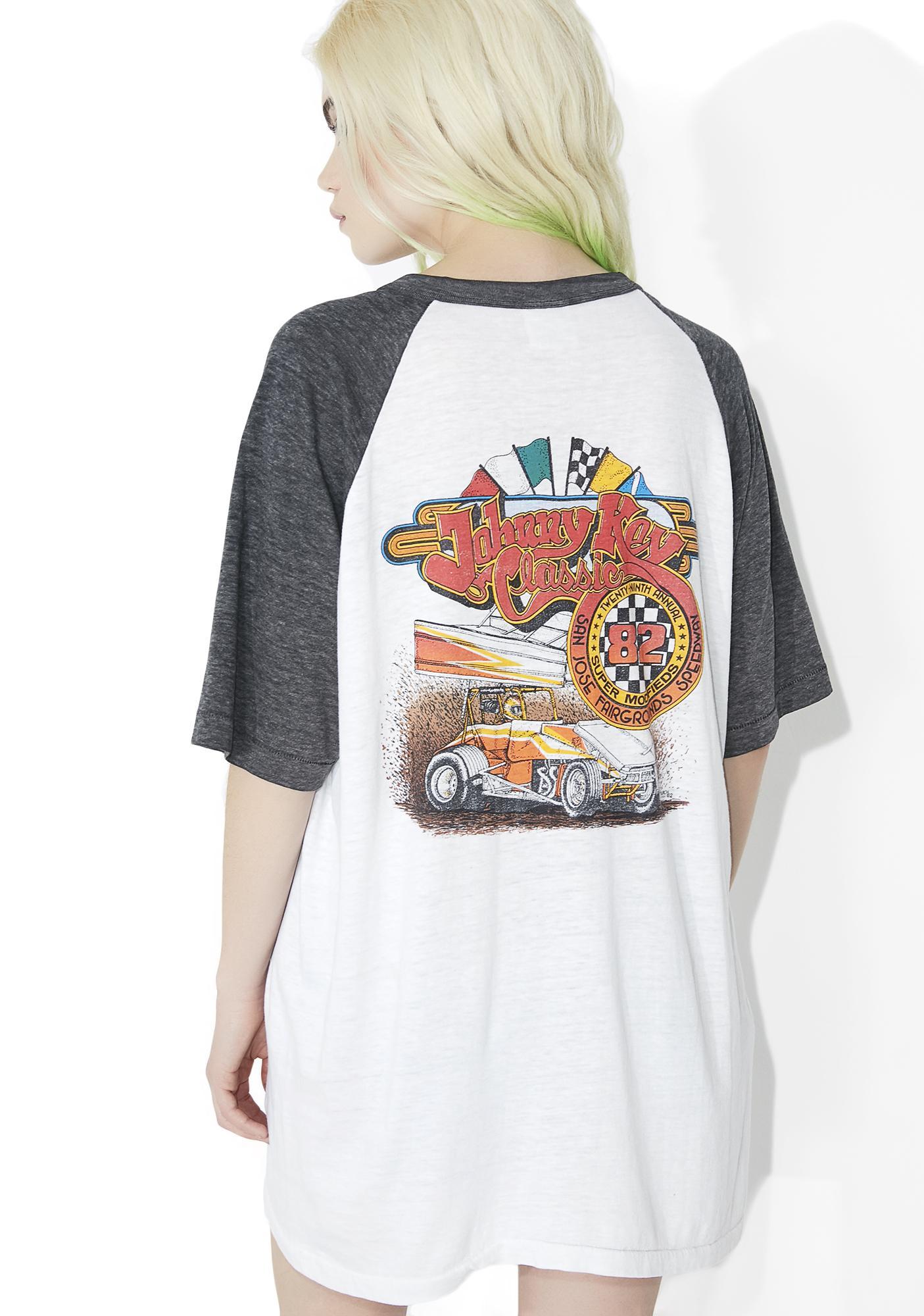 Vintage Johnny Key Racing Raglan