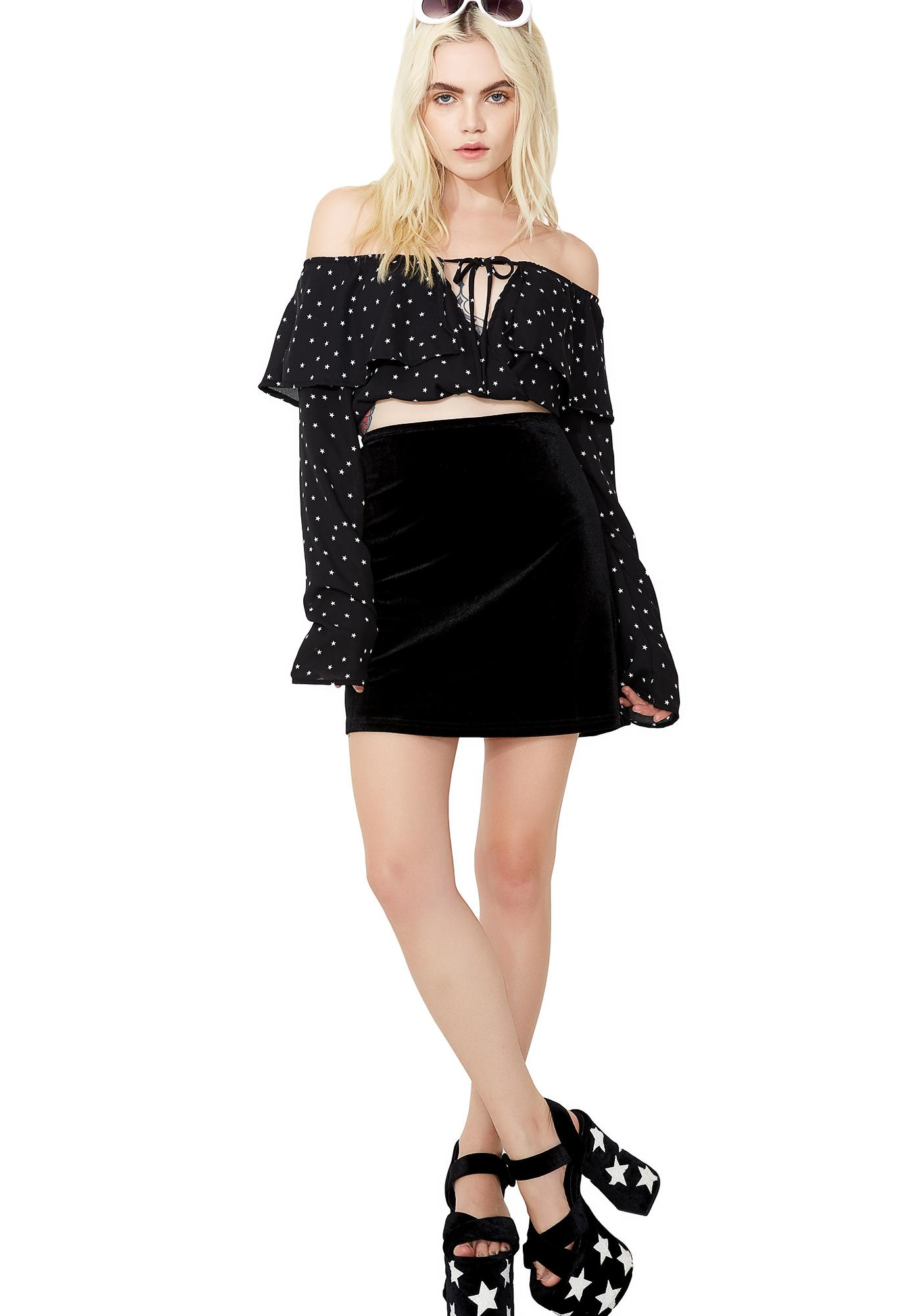 Pretty Little Lies Velvet Skirt