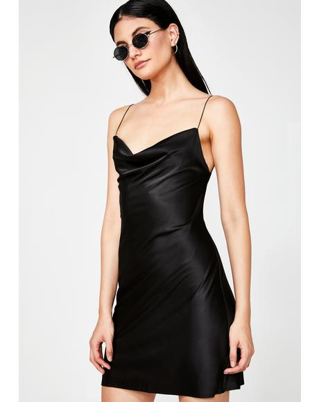 Evening Appeal Satin Dress