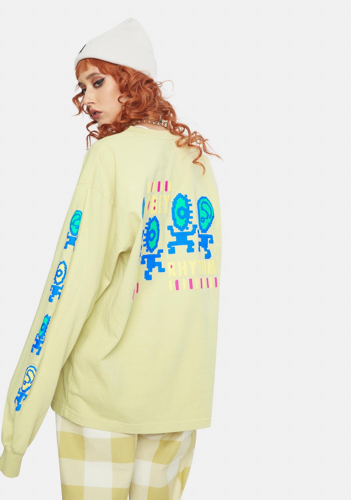 Obey The Rhythm 2 Long Sleeve Graphic Tee