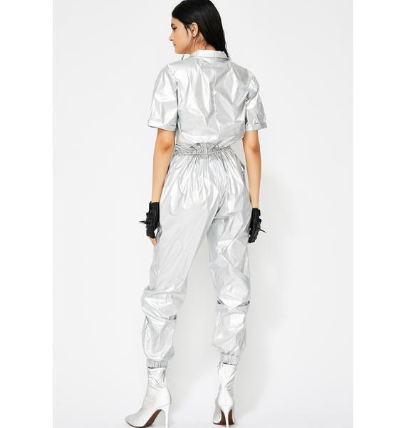 Chroma Collision Metallic Jumpsuit