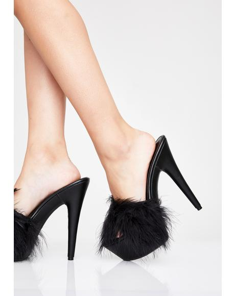 Sinful Money Hunny Marabou Heels