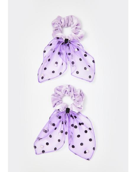 Lavender Yours To Keep Scrunchie Set