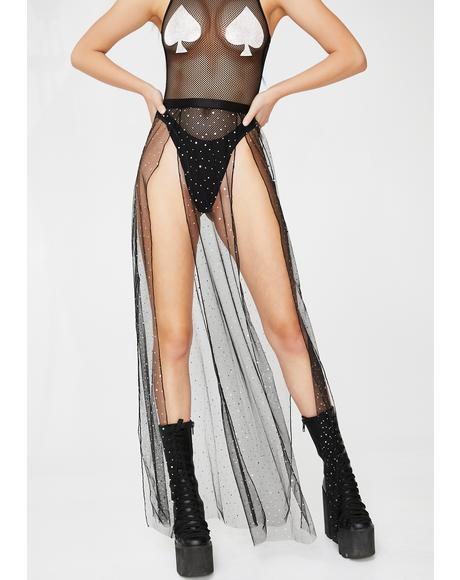 Evil Beatz Sheer Maxi Skirt