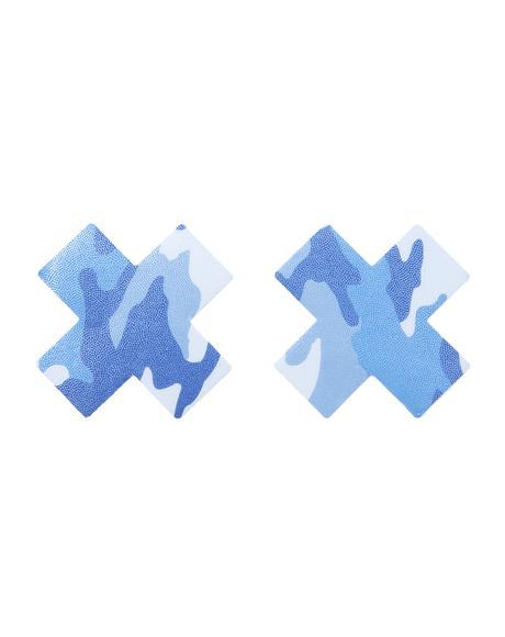 Blue Camo Cross Pasties
