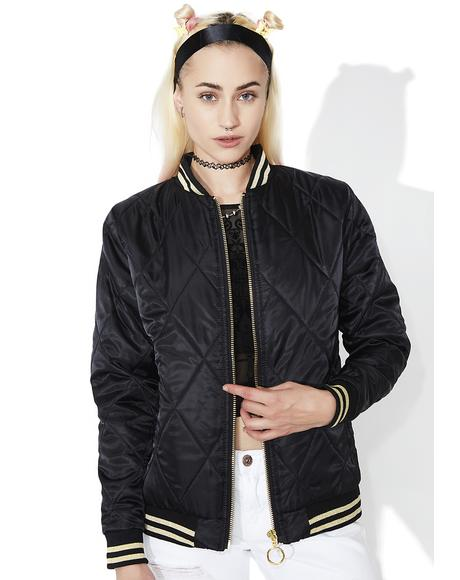 Fair Facade Embroidered Bomber