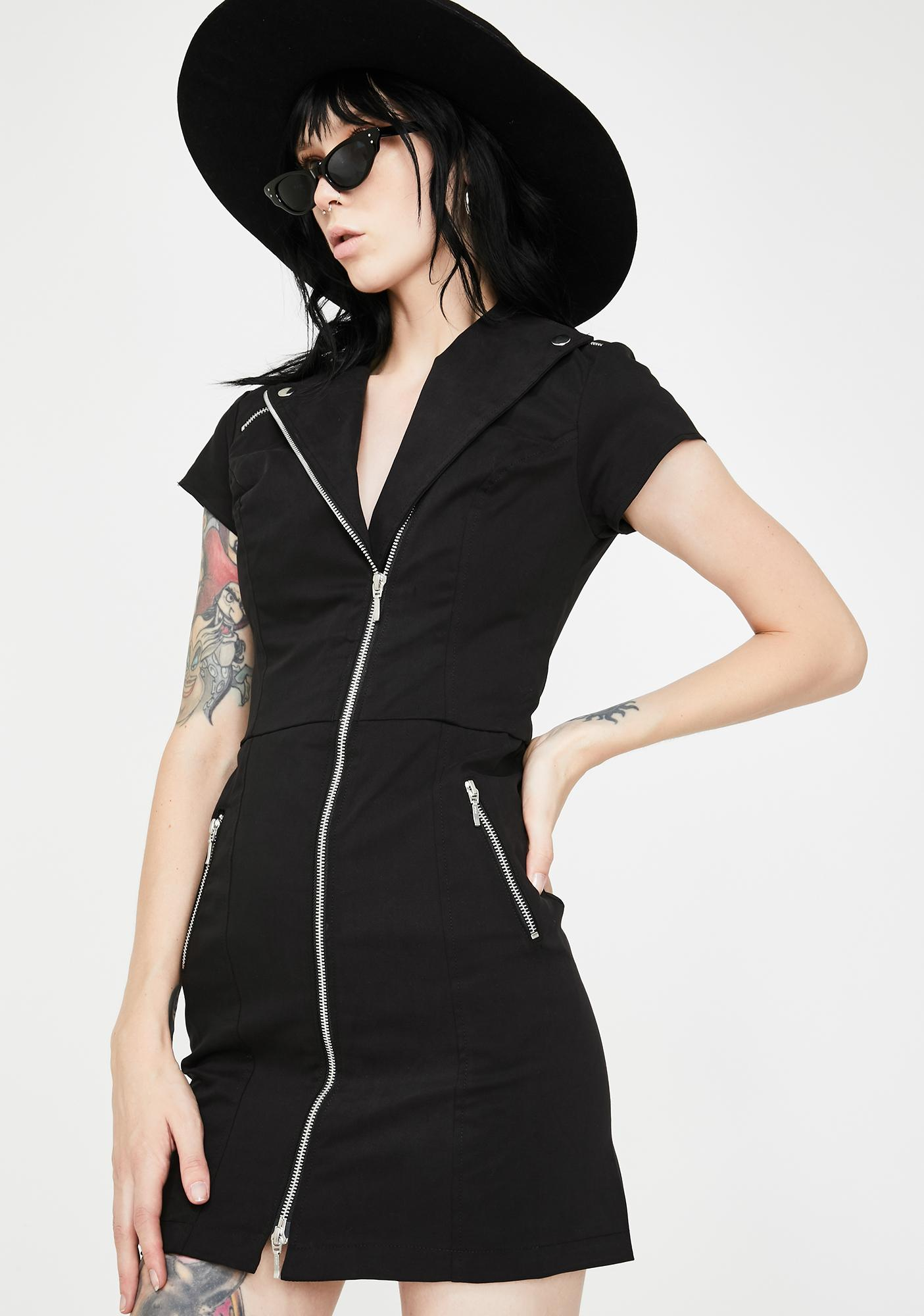 Dr. Faust Witch On The Run Biker Dress